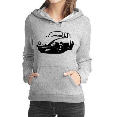 Moletom Feminino Fusca Carro Antigo Clássico  - Moletons Personalizados Blusa/ Casacos Baratos/ Blusão/ Jaqueta Canguru