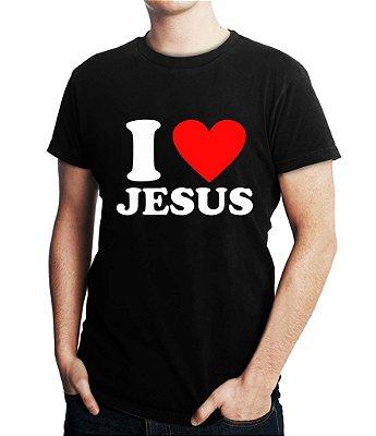 Camiseta Personalizada Gospel Cristã I Love Amo Jesus - Personalizadas/ Customizadas/ Estampadas/ Camiseteria/ Estamparia/ Estampar/ Personalizar/ Customizar/ Criar/ Camisa Blusas Baratas Modelos Legais Loja Online/ Bebê