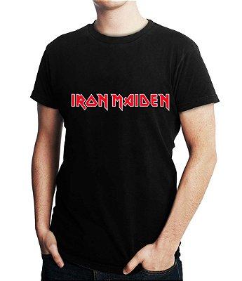 Camiseta Masculina Iron Maiden Bandas de Rock - Personalizadas Customizadas Estampadas Camiseteria Estamparia Estampar Personalizar Customizar Criar Camisa Blusas Baratas Modelos Legais Loja Online