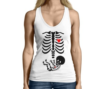 Camiseta Regata Feminina Gestantes Grávidas Raio X Divertidas Engraçadas  - Personalizadas/ Customizadas/ Camiseteria/ Camisa T-shirts Baratas Modelos Legais Loja Online