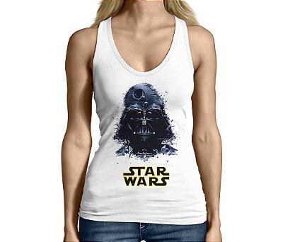 Camiseta Regata Feminina Star Wars Darth Vader Nerd Geek Filmes Séries E Seriados - Personalizadas/ Customizadas/ Camiseteria/ Camisa T-shirts Baratas Modelos Legais Loja Online
