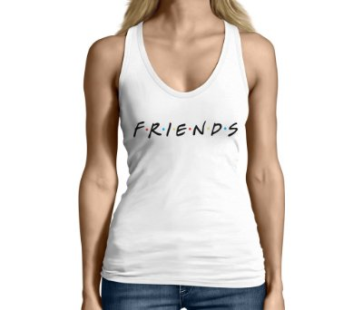 Camiseta Regata Feminina Friends Séries e Seriados  - Personalizadas/ Customizadas/ Camiseteria/ Camisa T-shirts Baratas Modelos Legais Loja Online