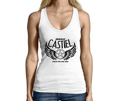 Camiseta Regata Feminina Supernatural Castiel Séries e Seriados - Personalizadas/ Customizadas/ Camiseteria/ Camisa T-shirts Baratas Modelos Legais Loja Online