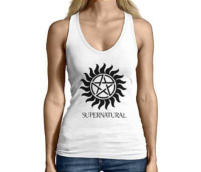 Camiseta Regata Feminina Supernatural Séries e Seriados - Personalizadas/ Customizadas/ Camiseteria/ Camisa T-shirts Baratas Modelos Legais Loja Online