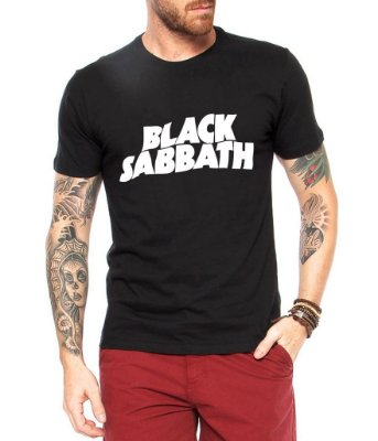 Camiseta Masculina Black Sabbath Banda de Rock - Personalizadas/ Customizadas/ Estampadas/ Camiseteria/ Estamparia/ Estampar/ Personalizar/ Customizar/ Criar/ Camisa Blusas Baratas Modelos Legais Loja Online
