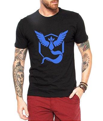 Camiseta Pokemon Masculina GoTeam Mystic - Personalizadas/ Customizadas/ Estampadas/ Camiseteria/ Estamparia/ Estampar/ Personalizar/ Customizar/ Criar/ Camisa Blusas Baratas Modelos Legais Loja Online