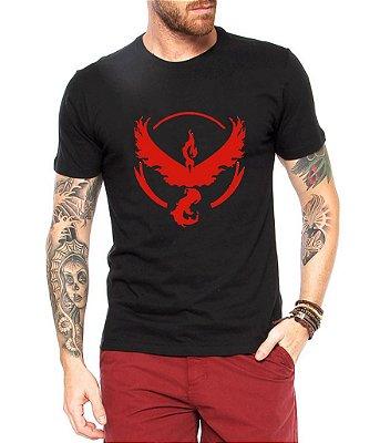 Camiseta Pokemon Masculina GoTeam Valor - Personalizadas/ Customizadas/ Estampadas/ Camiseteria/ Estamparia/ Estampar/ Personalizar/ Customizar/ Criar/ Camisa Blusas Baratas Modelos Legais Loja Online