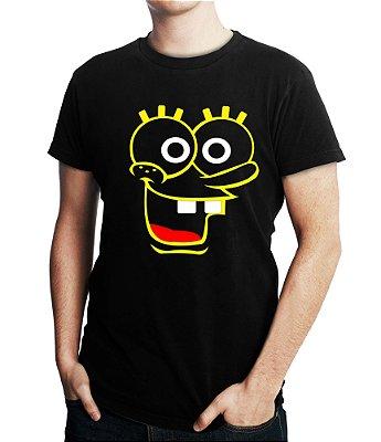 Camiseta Masculina Bob Esponja Desenho Animado - Personalizadas/ Customizadas/ Estampadas/ Camiseteria/ Estamparia/ Estampar/ Personalizar/ Customizar/ Criar/ Camisa Blusas Baratas Modelos Legais Loja Online