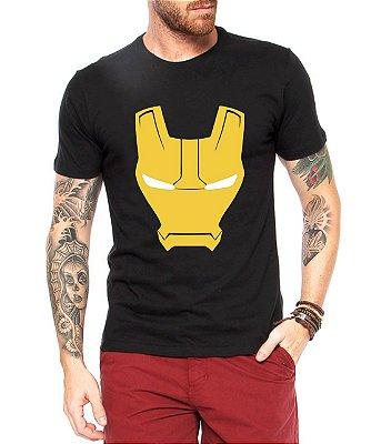 Camiseta Masculina Homem de Ferro - Personalizadas/ Customizadas/ Estampadas/ Camiseteria/ Estamparia/ Estampar/ Personalizar/ Customizar/ Criar/ Camisa Blusas Baratas Modelos Legais Loja Online