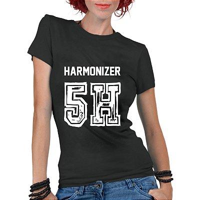Camiseta Feminina Fifth Harmony Banda 5H Harmonizer - Personalizadas/ Customizadas/ Estampadas/ Camiseteria/ Estamparia/ Estampar/ Personalizar/ Customizar/ Criar/ Camisa Blusas Baratas Modelos Legais Loja Online