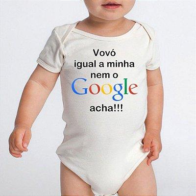 Body Bebe Frases Engraçadas Google Vovó - Roupinhas Macacão Infantil Bebe Roupa Manga Curta Menino Menina Personalizados