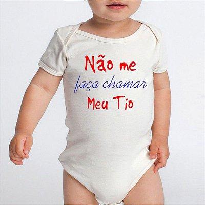 Body Bebe Frases Engraçadas Tio Dindo - Roupinhas Macacão Infantil Bebe Roupa Manga Curta Menino Menina Personalizados