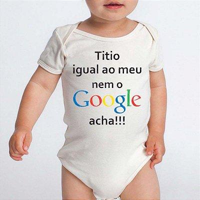 Body Bebe Frases Engraçadas Titio google - Roupinhas Macacão Infantil Bebe Roupa Manga Curta Menino Menina Personalizados