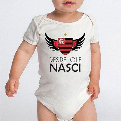 Body Bebe Frases Engraçadas Flamengo Desde Que Nasci - Roupinhas Macacão Infantil Bodies Roupa Manga Curta Menino Menina Personalizados