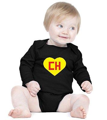 Body Bebê Chaves Chapolin Séries Seriados - Roupinhas Macacão Infantil Bodies Roupa Manga Longa Menino Menina Personalizados