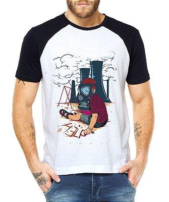 Camiseta Masculina Protesto Help Raglan