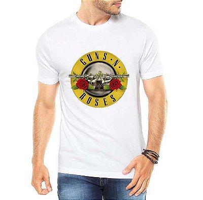 Camiseta Masculina Banda de Rock Guns N' Roses - Personalizadas/ Customizadas/ Estampadas/ Camiseteria/ Estamparia/ Estampar/ Personalizar/ Customizar/ Criar/ Camisa Blusas Baratas Modelos Legais Loja Online