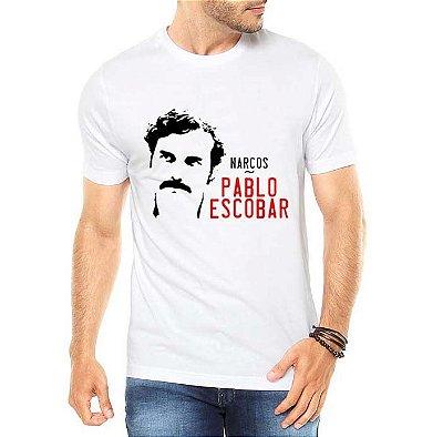 Camiseta Masculina Pablo Escobar Seriado Narcos Netflix - Personalizadas/ Customizadas/ Estampadas/ Camiseteria/ Estamparia/ Estampar/ Personalizar/ Customizar/ Criar/ Camisa Blusas Baratas Modelos Legais Loja Online