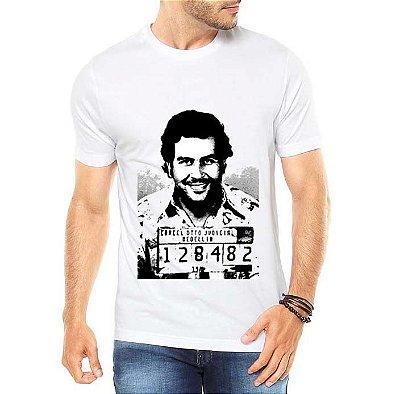 Camiseta Masculina Pablo Escobar Seriado Série Narcos - Personalizadas/ Customizadas/ Estampadas/ Camiseteria/ Estamparia/ Estampar/ Personalizar/ Customizar/ Criar/ Camisa Blusas Baratas Modelos Legais Loja Online