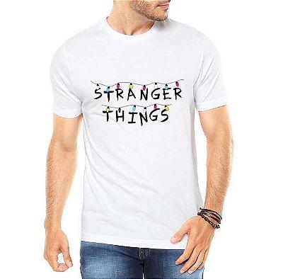 Camiseta Masculina Stranger Things Seriado Séries Netflix - Personalizadas/ Customizadas/ Estampadas/ Camiseteria/ Estamparia/ Estampar/ Personalizar/ Customizar/ Criar/ Camisa Blusas Baratas Modelos Legais Loja Online
