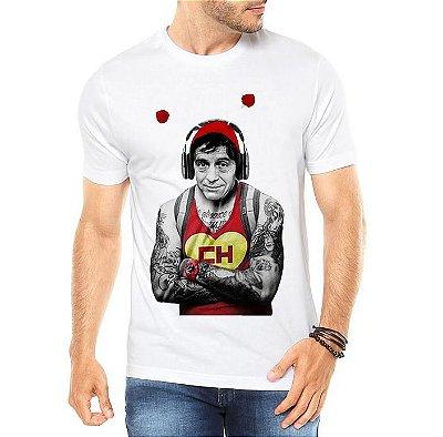 Camiseta Masculina Chapolin Tatuado - Personalizadas/ Customizadas/ Estampadas/ Camiseteria/ Estamparia/ Estampar/ Personalizar/ Customizar/ Criar/ Camisa Blusas Baratas Modelos Legais Loja Online