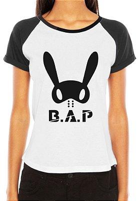 Camiseta Feminina Kpop Banda B.A.P  T-shirt Blusa K-pop Raglan - Estampadas Camisa Blusas Baratas Modelos Legais Loja Online
