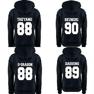 Moletom Feminino Kpop Banda Big Bang Integrantes Daesung G-Dragon Seungri Taeyang Top K-pop - Moletons Blusa de Frio Casacos Baratos Blusão Canguru Loja Online