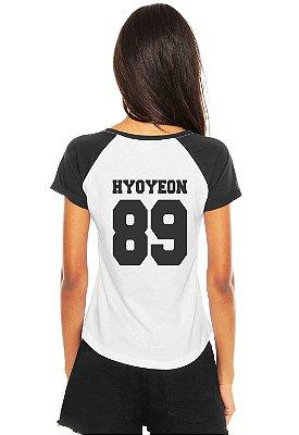 Camiseta Feminina Banda Girls Generation Integrantes Hyoyeon Jessica Seohyun Sooyoung Sunny Taeyeon Tiffany Yoona Yuri K-Pop Raglan - Estampadas Camisa Blusas Baratas Modelos Legais Loja Online