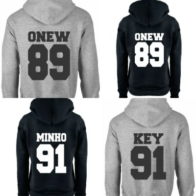 Moletom Feminino Kpop Banda Shinee Integrantes Jonghyun Key Minho Onew Taemin K-pop - Moletons Blusa de Frio Casacos Baratos Blusão Canguru Loja Online