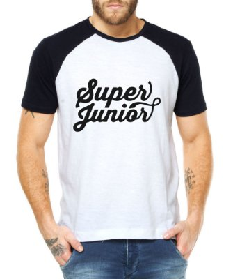 Camiseta Masculina Kpop Banda Super Junior Blusa Raglan - Estampadas Camisa Blusas Baratas Modelos Legais Loja Online
