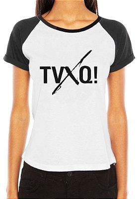 Camiseta Feminina Kpop Banda TVXQ! T shirt Blusa K-pop Raglan - Estampadas Camisa Blusas Baratas Modelos Legais Loja Online