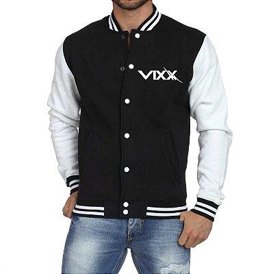 Jaqueta College Masculina Kpop Banda VIXX K-pop - Jaquetas Colegial Americana Universitária Baseball Casacos Blusa Blusão Baratos Loja Online