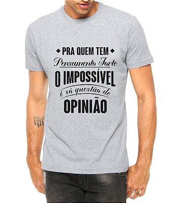 Camiseta Masculina Música Charlie Brown Chorão Pensamento Forte Cinza