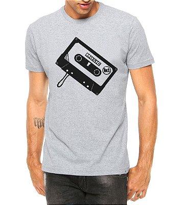 Camiseta Masculina Toca Fita Cinza