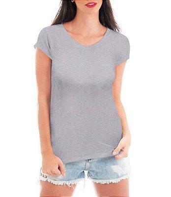 Camiseta Feminina Blusa T-shirt Cinza Branca Preta -Personalizadas/ Customizadas/ Camiseteria/ Camisa T-shirts Blusas Baratas Modelos Legais Loja Online