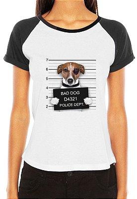 Feminina Raglan Bad Dog