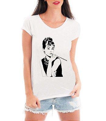 T-shirt Feminina Branca Aldrey