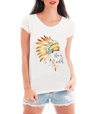 T-shirt Feminina Stay Wild Branca