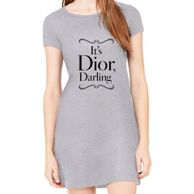 Vestido Cinza Preto Dior Darling - Simples para o Dia a Dia Básico de Malha Estampado Modelos Lindos e Baratos em Preto e Cinza Verão Comprar Loja Online Site Promoção Vestidos Casuais
