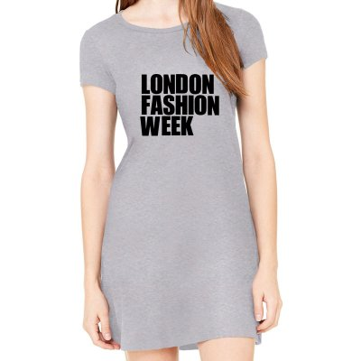 Vestido Cinza London Fashion Week em Preto - Simples para o Dia a Dia Básico de Malha Estampado Modelos Lindos e Baratos em Preto e Cinza Verão Comprar Loja Online Site Promoção Vestidos Casuais