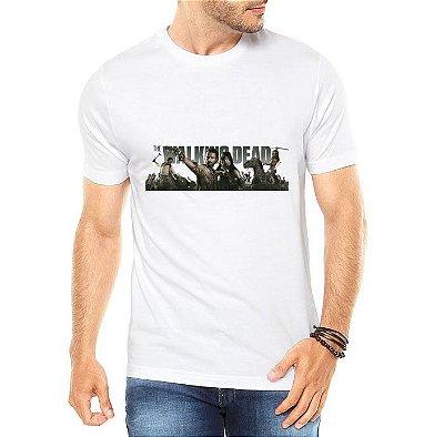 Camiseta Masculina Branca The Walking Dead Série Seriado - Personalizadas/ Customizadas/ Estampadas/ Camiseteria/ Estamparia/ Estampar/ Personalizar/ Customizar/ Criar/ Camisa Blusas Baratas Modelos Legais Loja Online