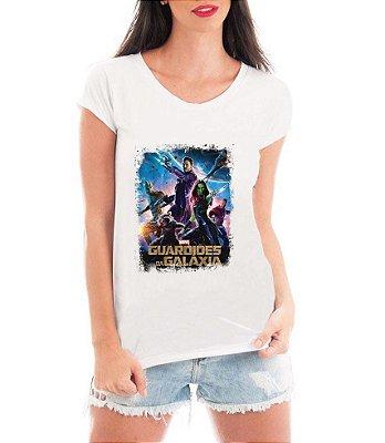 Camiseta Blusa Branca Guardiões Da Galáxia Filme - Filme Saga/ Customizadas/ Estampadas/ Camiseteria/ Estamparia/ Estampar/ Personalizar/ Customizar/ Criar/ Camisa Blusas