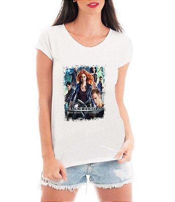 Camiseta Blusa Branca Shadowhunters Série Seriado - Série Seriado/ Customizadas/ Estampadas/ Camiseteria/ Estamparia/ Estampar/ Personalizar/ Customizar/ Criar/ Camisa Blusas