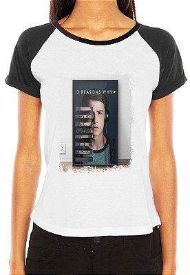 Camiseta Blusa Raglan 13 Reasons Why Clay Série - Série Seriado/ Customizadas/ Estampadas/ Camisas - Personalizadas/ Customizadas/ Estampadas/ Camiseteria/ Estamparia/ Personalizar/ Customizar/ Criar/ Camisa Blusas Baratas Modelos Legais Loja Online