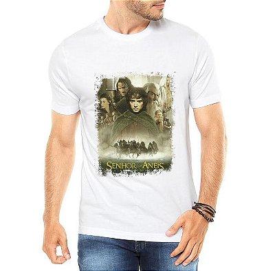 85863c0090 Camiseta Branca Masculina O Senhor dos Anéis Filme - Personalizadas   Customizadas  Estampadas  Camiseteria