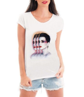 Camiseta Blusa T shirt Bata Feminina Katy Perry - Seriado Série/ Customizadas/ Estampadas/ Camiseteria/ Estamparia/ Estampar/ Personalizar/ Customizar/ Criar/ Camisa Blusas