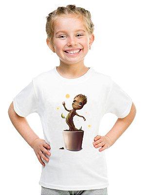 Camiseta Infantil Feminina Groot Filme Desenho - Personalizadas/ Customizadas/ Estampadas/ Camiseteria/ Estamparia/ Estampar/ Personalizar/ Customizar/ Criar/ Camisa Blusas Baratas Modelos Legais Loja Online