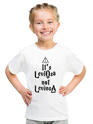 Camiseta Infantil Menina Leviosa - Personalizadas/ Customizadas/ Estampadas/ Camiseteria/ Estamparia/ Estampar/ Personalizar/ Customizar/ Criar/ Camisa Blusas Baratas Modelos Legais Loja Online