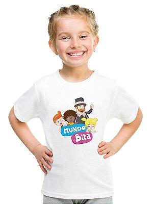 Camiseta Infantil Menina Mundo Bita Desenho - Personalizadas/ Customizadas/ Estampadas/ Camiseteria/ Estamparia/ Estampar/ Personalizar/ Customizar/ Criar/ Camisa Blusas Baratas Modelos Legais Loja Online