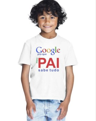 Camiseta Infantil Menino Meu Pai Sabe Tudo - Personalizadas/ Customizadas/ Estampadas/ Camiseteria/ Estamparia/ Estampar/ Personalizar/ Customizar/ Criar/ Camisa Blusas Baratas Modelos Legais Loja Online